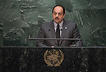 Qatar <br /> General Assembly Seventieth session 9th plenary meeting: High-level plenary meeting of the (6th meeting)