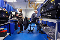 Pictured: Employees testing equipment at Spectrum Technologies in Bridgend, Wales, UK. Wednesday 19 February 2020<br /> Re: The effect of the Ford factory closure will have to Bridgend in south Wales, UK.