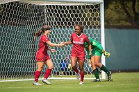 STANFORD, CA - September 3, 2017: Mariah Lee at Cagan Stadium. Stanford defeated Navy 7-0.