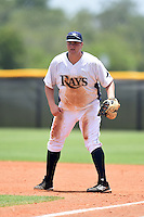 GCL Rays first baseman Jonathan Freemyer (46) during a game against the GCL Red Sox on June 24, 2014 at Charlotte Sports Park in Port Charlotte, Florida.  GCL Red Sox defeated the GCL Rays 5-3.  (Mike Janes/Four Seam Images)
