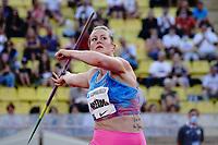 9th July 2021, Monaco, France; Diamond League Athletics, Herculis meeting, Monaco;  Elizabeth Gleadle (Canada) womens javelin