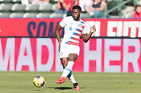 CARSON, CA - FEBRUARY 1: Mark McKenzie #4 of the United States during a game between Costa Rica and USMNT at Dignity Health Sports Park on February 1, 2020 in Carson, California during a game between Costa Rica and USMNT at Dignity Health Sports Park on February 1, 2020 in Carson, California.