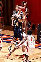 SAN ANTONIO , TX - NOVEMBER 7, 2009: The St. Edward's University Hilltoppers vs. The University of Texas At San Antonio Roadrunners Women's Basketball at the UTSA Convocation Center. (Photo by Jeff Huehn)