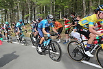 Race leader Primoz Roglic (SLO) Team Jumbo-Visma and Alejandro Valverde (ESP) Movistar Team on the final climb of Erlaitz during Stage 4 of the Itzulia Basque Country 2021, running 189.2km from Vitoria-Gasteiz to Hondarribia, Spain. 8th April 2021.  <br /> Picture: Luis Angel Gomez/Photogomezsport | Cyclefile<br /> <br /> All photos usage must carry mandatory copyright credit (© Cyclefile | Luis Angel Gomez/Photogomezsport)