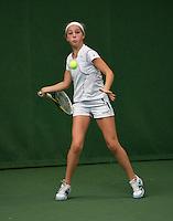 20131201,Netherlands, Almere,  National Tennis Center, Tennis, Winter Youth Circuit, Kim Hansen  <br /> Photo: Henk Koster