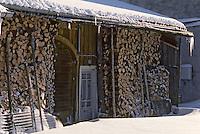 Europe/France/Franche-Comté/25/Doubs/Mouthe: Détail d'une vieille ferme