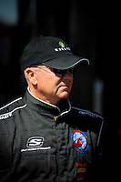 Feb 07, 2009; Daytona Beach, FL, USA; NASCAR Sprint Cup Series driver Geoff Bodine during practice for the Daytona 500 at Daytona International Speedway. Mandatory Credit: Mark J. Rebilas-
