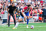 Atletico de Madrid's player Koke Resurrección and Deportivo de la Coruña's player Faycal during a match of La Liga Santander at Vicente Calderon Stadium in Madrid. September 25, Spain. 2016. (ALTERPHOTOS/BorjaB.Hojas)
