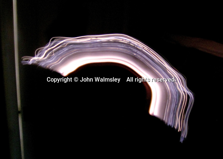 Abstract shapes made by waving sparklers around.
