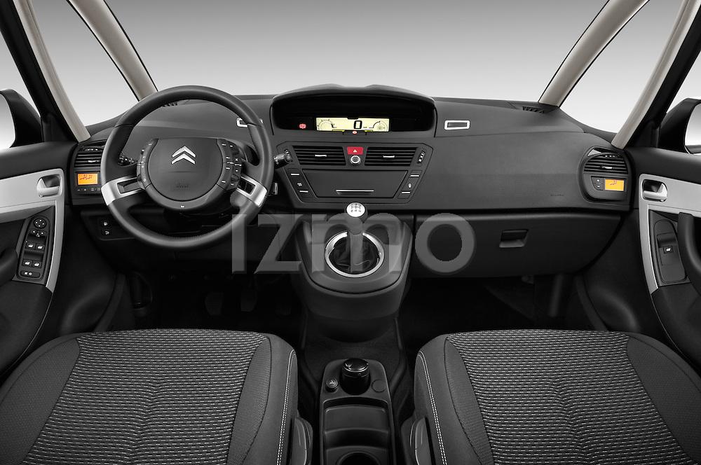 Straight dashboard view of a 2006 - 2012 Citroen C4 Picasso Business Mini MPV.