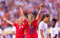 PHILADELPHIA, PA - AUGUST 29: Morgan Brian #6 of the United States celebrates during a game between Portugal and the USWNT at Lincoln Financial Field on August 29, 2019 in Philadelphia, PA.