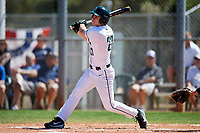 Dartmouth Big Green designated hitter Oliver Campbell (27) at bat during a game against the Villanova Wildcats on March 3, 2018 at North Charlotte Regional Park in Port Charlotte, Florida.  Dartmouth defeated Villanova 12-7.  (Mike Janes/Four Seam Images)