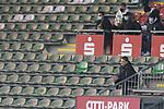 08.11.2020, Dietmar-Scholze-Stadion an der Lohmuehle, Luebeck, GER, 3. Liga, VfB Luebeck vs KFC Uerdingen 05 <br /> <br /> im Bild / picture shows <br /> Co-Trainer Lukas Pfeiffer (VfB Luebeck) verfolgt den Rest des Spiels von der Tribuene aus nach einer Roten Karte<br /> <br /> DFB REGULATIONS PROHIBIT ANY USE OF PHOTOGRAPHS AS IMAGE SEQUENCES AND/OR QUASI-VIDEO.<br /> <br /> Foto © nordphoto / Tauchnitz