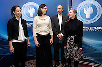 """*** NO FEE PIC***.16/12/2011.(L to R).Louise Melling Director at the Centre for Liberty & Reproductive Rights,.Noa Mendelsohn Aviv Director, Equality Programme CCLA,.Aaron Back Director, Ford Israel Fund,.Karen Ciesielski fundraising officer (ICCL).during the """"The Future of Human Rights Global Techniques Securing Local Impact"""" international seminar at The Westbury Hotel, Dublin..Photo: Gareth Chaney Collins"""
