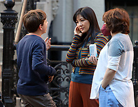 September 24, 2021.Constance Wu, Winslow Fegley filming on location for  Sony pictures Lyle Lyle Crocodile<br />   in New York September 24, 2021 Credit:RW/MediaPunch