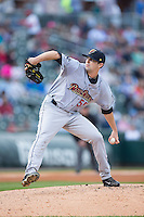 Scranton\Wilkes-Barre RailRiders starting pitcher Matt Tracy (55) in action against the Charlotte Knights at BB&T BallPark on May 1, 2015 in Charlotte, North Carolina.  The RailRiders defeated the Knights 5-4.  (Brian Westerholt/Four Seam Images)