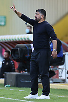 Gennaro Gattuso coach of SSC Napoli gestures<br /> during the Serie A football match between Benevento Calcio and SSC Napoli at stadio Ciro Vigorito in Benevento (Italy), October 25th, 2020. <br /> Photo Cesare Purini / Insidefoto
