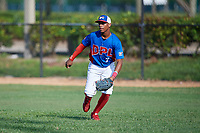 Jerry Alejo (7) during the Dominican Prospect League Elite Florida Event at Pompano Beach Baseball Park on October 14, 2019 in Pompano beach, Florida.  (Mike Janes/Four Seam Images)
