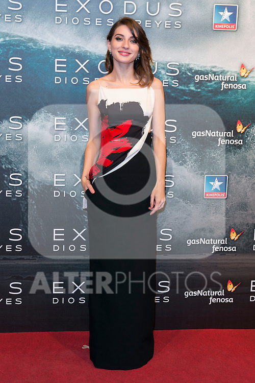 """Maria Valverde attend the Premiere of the movie """"EXODUS: GODS AND KINGS"""" at callao Cinema in Madrid, Spain. December 4, 2014. (ALTERPHOTOS/Carlos Dafonte)"""