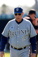 UC Irvine Anteaters Head Coach Mike Gillespie #19 before a game against the Loyola Marymount Lions at Page Field on February 26, 2013 in Los Angeles, California. (Larry Goren/Four Seam Images)