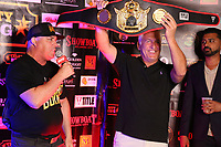 ATLANTIC CITY, NJ - JUNE 10 : Damon Feldman and Bart Blatstein at Celebrity Boxing weigh in at The Show Boat Hotel in Atlantic City New Jersey June 10, 2021 Credit: Star Shooter/MediaPunch