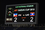 Philippines vs Laos during their AFF Suzuki Cup 2010 Qualification match at National Sports Complex on 24 October 2010, in Vientiane, Laos. Photo by Stringer / Lagardere Sports