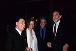 ALBERTO SORDI , GABRIELLA PESCUCCI, ETTORE SCOLA E  VITTORIO GASSMAN<br /> FESTA PER L'OSCAR A GABRIELLA PESCUCCI - GILDA CLUB ROMA  1994