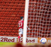 17th February 2021, Oakwell Stadium, Barnsley, Yorkshire, England; English Football League Championship Football, Barnsley FC versus Blackburn Rovers; Alex Mowatt of Barnsley runs off to celebrate after scoring in the 90th minute for 2-0