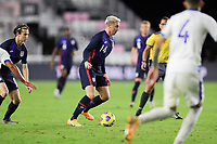 FORT LAUDERDALE, FL - DECEMBER 09: Djordje Mihailovic #14 of the United States chases after a ball during a game between El Salvador and USMNT at Inter Miami CF Stadium on December 09, 2020 in Fort Lauderdale, Florida.