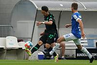 Sei Muroya (Hannover 96) gegen Matthias Bader (SV Darmstadt 98)<br /> <br /> - 28.08.2021 Fussball 2. Bundesliga, Saison 21/22, SV Darmstadt 98 vs Hannover 96, Stadion am Boellenfalltor, emonline, emspor, <br /> <br /> Foto: Marc Schueler/Sportpics.de<br /> Nur für journalistische Zwecke. Only for editorial use. (DFL/DFB REGULATIONS PROHIBIT ANY USE OF PHOTOGRAPHS as IMAGE SEQUENCES and/or QUASI-VIDEO)