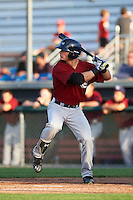 Mahoning Valley Scrappers designated hitter Mitch Longo (30) at bat during a game against the Auburn Doubledays on July 17, 2016 at Falcon Park in Auburn, New York.  Mahoning Valley defeated Auburn 3-2.  (Mike Janes/Four Seam Images)