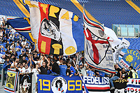Sampdoria fans cheer on before the Serie A 2018/2019 football match between AS Roma and UC Sampdoria at stadio Olimpico, Roma, November, 11, 2018 <br />  Foto Andrea Staccioli / Insidefoto