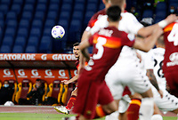 Roma s Lorenzo Pellegrini, left, attempts a free kick during the Serie A soccer match between Roma and Benevento at Rome's Olympic Stadium, October 18, 2020.<br /> UPDATE IMAGES PRESS/Riccardo De Luca