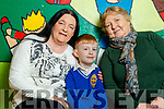 Jacqueline Murphy (Duagh) and Tralee Esther McElligott (Listowel), pictured with their grandson Michael McElligott (Tralee) at grandparents day, CBS Primary School, Tralee, on Wednesday morning last.