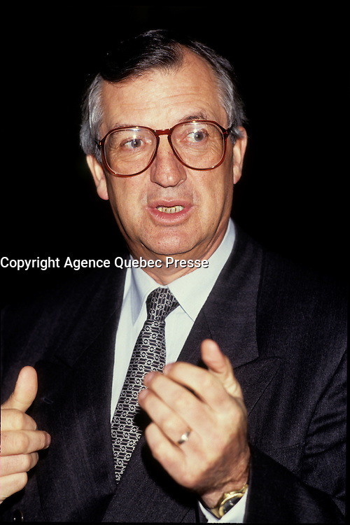 Montreal (Qc) CANADA - 1992 file Photo - Laurent Beaudoin. CEO Bombardier