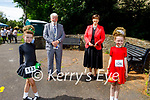 Attending the Irish Dancing Fest in the Park 2021 on Thursday. L to r: Emily Horgan from Brosna, Councillor Johnnie Wall (Mayor of Tralee), Norma Foley TD Minister for Education and Saoirse Coil from Limerick,
