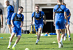 St Johnstone Training….13.09.19     McDiarmid Park, Perth<br />Stevie May pictured during training this morning alongside Jason Holt<br />Picture by Graeme Hart.<br />Copyright Perthshire Picture Agency<br />Tel: 01738 623350  Mobile: 07990 594431