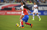 JACKSONVILLE, FL - NOVEMBER 10: Margaret Purce #30 of the United States moves with the ball during a game between Costa Rica and USWNT at TIAA Bank Field on November 10, 2019 in Jacksonville, Florida.