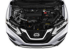 Car Stock 2020 Nissan Rogue S 5 Door SUV Engine  high angle detail view