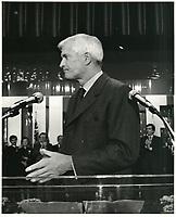 John Turner, 11 avril 1984<br /> <br /> PHOTO : agence quebec presse