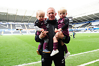 Alan Curtis, assistant coach for Swansea City at full time during the Sky Bet Championship match between Swansea City and Hull City at the Liberty Stadium in Swansea, Wales, UK. Saturday 27 April 2019