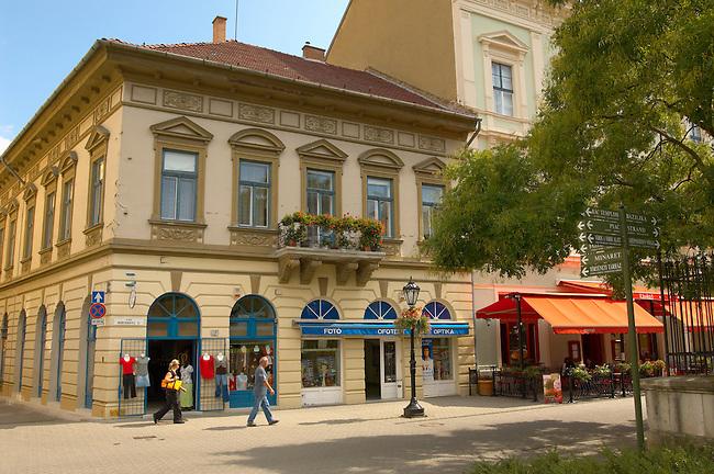 Baroque shopping street - Eger Hungary