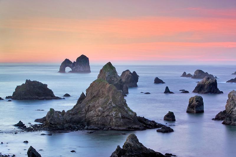 Arch Rock at sunrise. Oregon