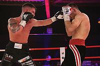 19th December 2020, Hamburg, Germany; Universal Boxing Promotion fight, Felix Sturm versus Timo Rost; Left jab to head by Sturm