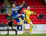 St Johnstone v Hibs...02.10.10  .Alan Maybury and Derek Riordan.Picture by Graeme Hart..Copyright Perthshire Picture Agency.Tel: 01738 623350  Mobile: 07990 594431
