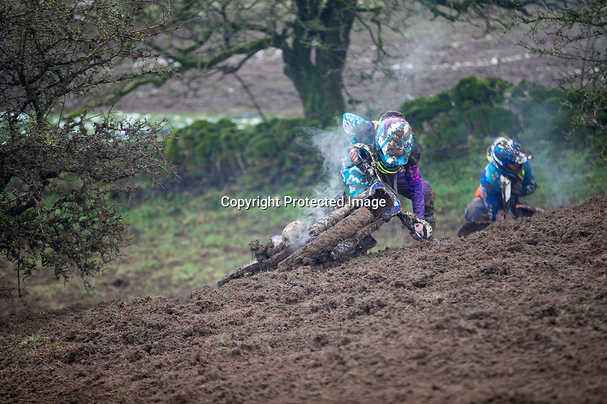 20/01/19<br /> <br /> Not put-off by by snow lying all over the track, one hundred fool-hardy riders take part in the 'Winter Warmer' RAW Extreme enduro. <br /> <br /> The impossibly steep icy climbs soon turned to mud with many riders falling and not making it up the hills. Lots of riders abandoned their goggles as the mud made visibility impossible. <br /> <br /> The two-hour race held on farmland at Grangemill, near Matlock in the Derbyshire Peak District is for road-legal enduro bikes. <br /> <br /> All Rights Reserved, F Stop Press Ltd +44 (0)7765 242650  www.fstoppress.com rod@fstoppress.com