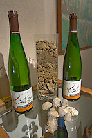 bottles and soil samples dom pfister dahlenheim alsace france