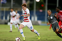 GEORGETOWN, GRAND CAYMAN, CAYMAN ISLANDS - NOVEMBER 19: Josh Sargent #19 of the United States dribbles with the ball during a game between Cuba and USMNT at Truman Bodden Sports Complex on November 19, 2019 in Georgetown, Grand Cayman.