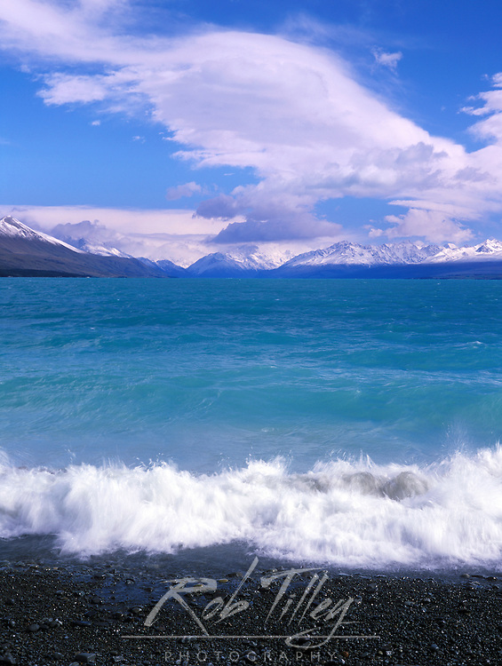 Lake Pukaki, South Island, New Zealand with Mt. Cook in the background