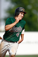 May 20, 2007: Greg Thomson of the Visalia Oaks runs the bases against the Rancho Cucamonga Quakes at The Epicenter in Rancho Cucamonga,CA.  Photo by Larry Goren/Four Seam Images